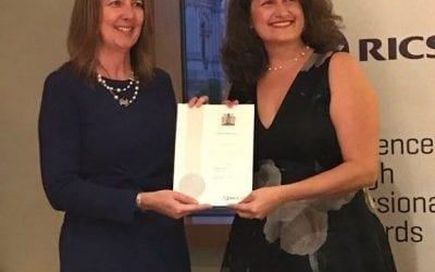 Elina Grigoriou awarded RICS Honour
